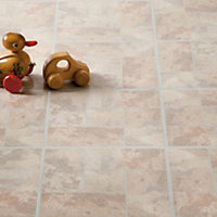 Value Vinyl Tile Beige Effect Brick - 0.56 sq m per Pack
