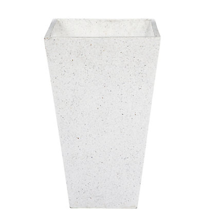 Image for Terrazzo Effect White Plant Pot - 26cm from StoreName