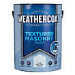 Homebase Weathercoat Pure Brilliant White - Textured Masonry Paint - 5L