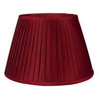 Round Knife Pleat Shade - Red - 30cm