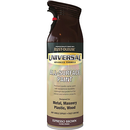 Image for Rust-Oleum Universal Gloss Spray Paint - Espresso Brown - 400ml from StoreName