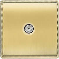 Laura Ashley TV or FM Co-Axial Outlet - Brushed Brass