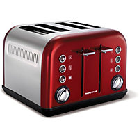 Morphy Richards Accents 4 Slice Toaster - Red