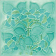 V&A Clematis Turquoise Wall Tile - 150 x 150mm