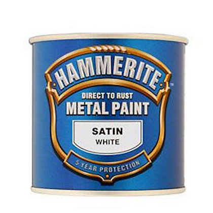 Image for Hammerite White - Satin Exterior Metal Paint - 250ml from StoreName