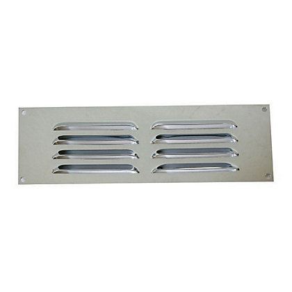 Image for Louvre Vent - 229 x 76mm - Chrome from StoreName