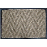 Small Barrier Doormat Brown 40x60cm