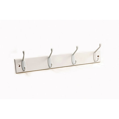 Image for Value Hat and Coat Hook Rail - White - 4 Pack from StoreName