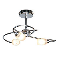 Heathcliff 3 Lamp Chrome Ceiling Light