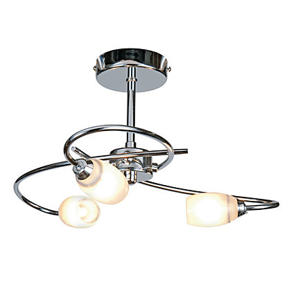Image for Heathcliff 3 Lamp Chrome Ceiling Light from StoreName