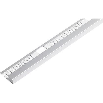 Image for Square Edge - Silver - Tile Trim - 1.83m x 9mm from StoreName