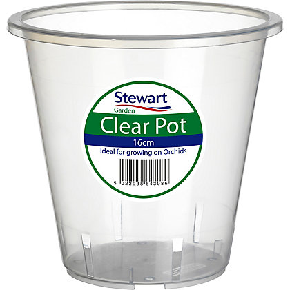 Image for Clear Plastic Pot - 16cm from StoreName