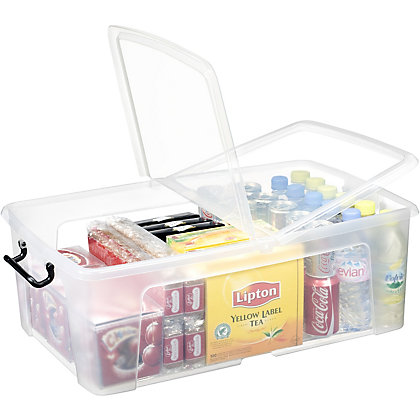 Image for Smart Storemaster Box with Lid - Clear - 50L from StoreName