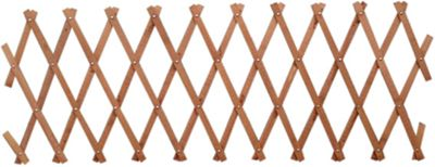 Wooden Expanding Trellis - Brown - 1.8x0.3m