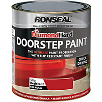 Ronseal Diamond Hard Tile Red - Doorstep Satin Paint - 750ml