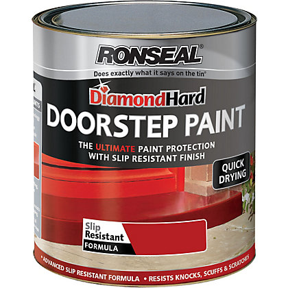 Image for Ronseal Diamond Hard Tile Red - Doorstep Satin Paint - 750ml from StoreName