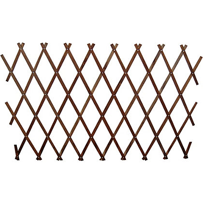 Image for Wooden Expanding Trellis - Brown - 1.8x0.6m from StoreName