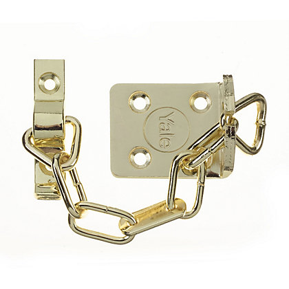 Image for Yale WS6 TS003 rated Security Door Chain - Polished Brass from StoreName