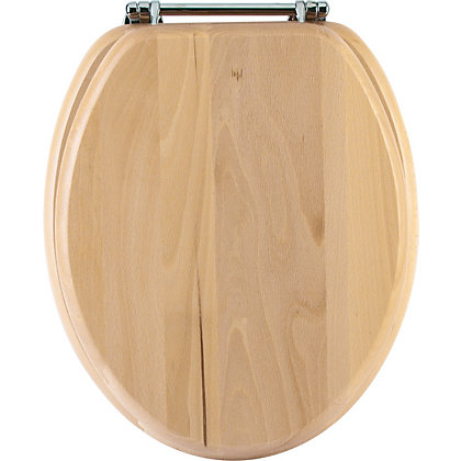 Image for Beech Effect Toilet Seat from StoreName