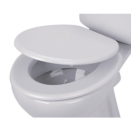 Image for White Wood Effect Toilet Seat from StoreName