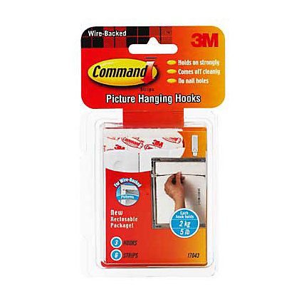 Image for Command Self-adhesive Wire Picture Hanging Hooks - 3 Pack from StoreName
