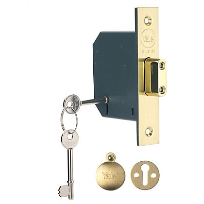 Image for Yale PM552 5 Lever Deadlock 64mm - Brass from StoreName