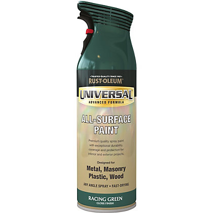 Image for Rust-Oleum Universal Gloss Spray Paint - Racing Green - 400ml from StoreName