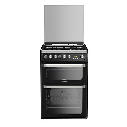 Image for Hotpoint Ultima HUD61K S Freestanding Cooker - Black from StoreName