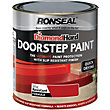 Ronseal Diamond Hard Doorstep Paint - Tile Red - 250ml