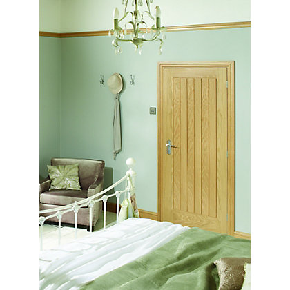 Image for 6 Panel Pre-Finished Oak Suffolk Internal Door - 838mm Wide from StoreName