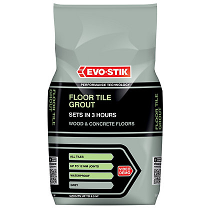 Unibond Ready Mixed Floor Grout Charcoal Grey 3 75kg