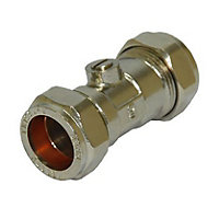 Compression Fitting Isolation Valve 22mm