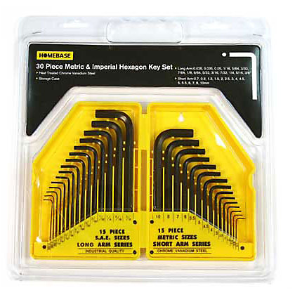 Image for Metric Hex Key Set - 30 Pieces from StoreName