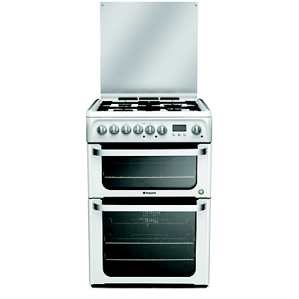 Image for Hotpoint Ultima HUD61P S Freestanding Cooker - White from StoreName