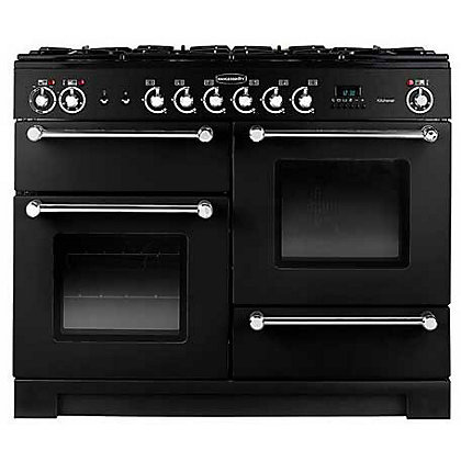 Image for Rangemaster Kitchener 76280 110cm Dual Fuel Cooker - Black from StoreName