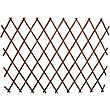 Wooden Expanding Trellis - Brown - 1.8x0.9m