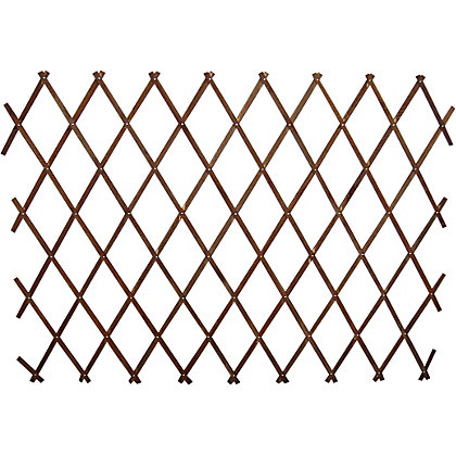 Image for Wooden Expanding Trellis - Brown - 1.8x0.9m from StoreName