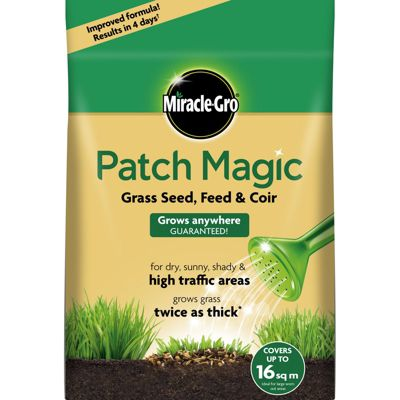 Homebase miracle gro patch magic grass seed feed for Miracle magic bathroom