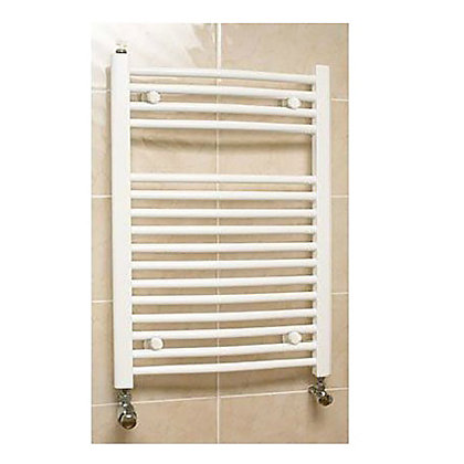 Image for Richmond Curved Heated Towel Rail - 764 x 500mm - White from StoreName