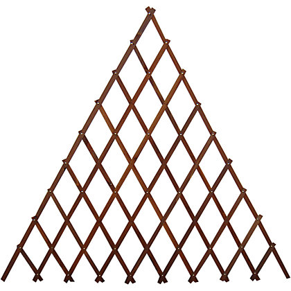 Image for Wooden Fan Expanding  Trellis - Brown - 1.8x0.9m from StoreName