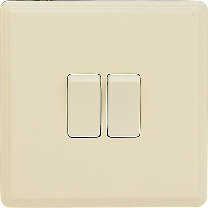 Image for Laura Ashley 10A 2-Way Light Switch - Double - Cream from StoreName