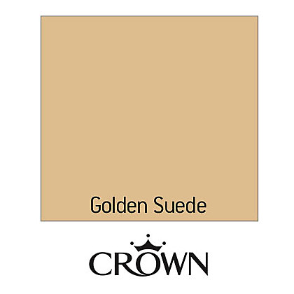 Image for Crown Fashion For Walls Golden Suede - Suede Matt Emulsion Paint - 125ml Tester from StoreName