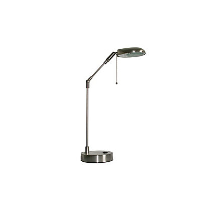 Image for Metal Lever Single Arm Desk Light - Brushed Chrome - 50cm from StoreName