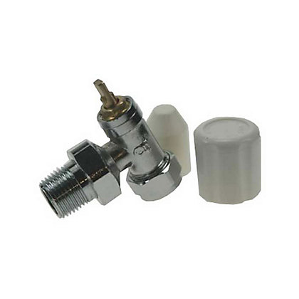 Image for Radiator Valve with Wheelhead and Lockshield Caps - 15mm - 0.5in from StoreName