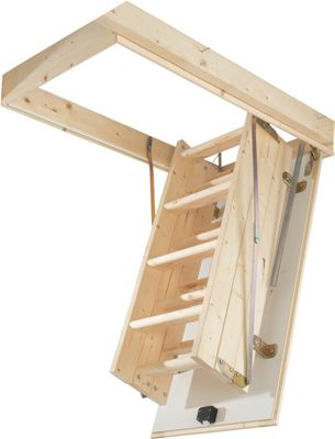 Abru Loft Ladder Complete Kit - Timber