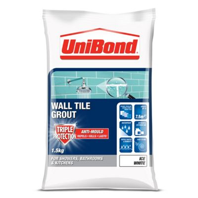 Unibond Anti Mould Tile Grout Ice White