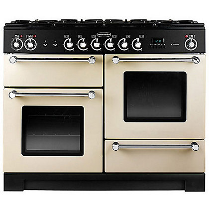 Image for Rangemaster Kitchener 77130 110cm Dual Fuel Cooker - Cream from StoreName