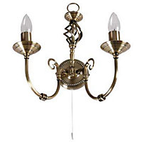Madagascar Wall Light - Antique Brass - 36.5cm