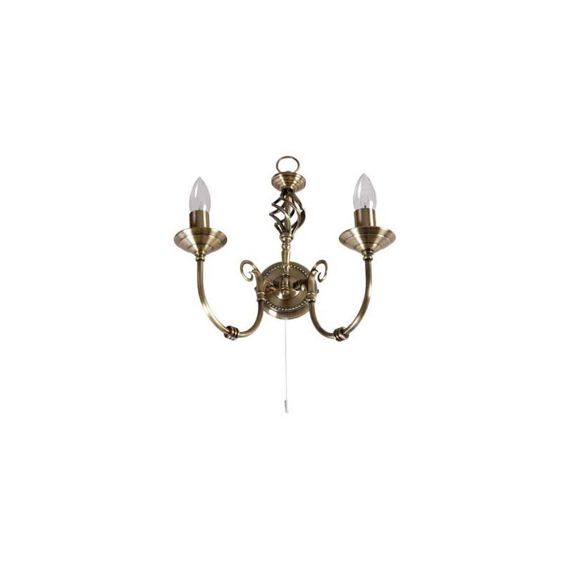 Homebase - Madagascar Wall Light - Antique Brass - 36.5cm
