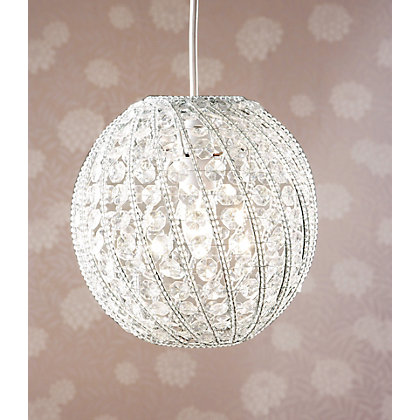 Image for Beaded Acrylic Ball Shade - Clear - 24cm from StoreName